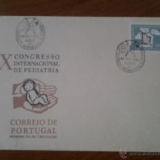 Sellos: ANTIGUO SOBRE X CONGRESO INTERNACIONAL DE PEDIATRIA CORREIO DE PORTUGAL PORTO. Lote 43256558
