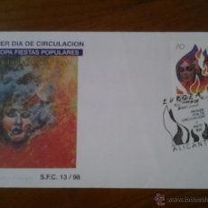 Sellos: ANTIGUO SOBRE HOGUERAS DE SAN JUAN 1996. Lote 43256599