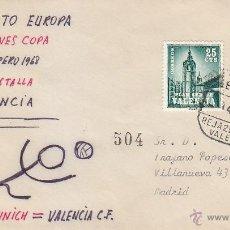 Sellos: FUTBOL RARA CARTA ILUSTRADA MANO CUARTOS FINAL RECOPA EUROPA 14 FEBRERO 1968 VALENCIA-BAYERN MUNICH.. Lote 43258749