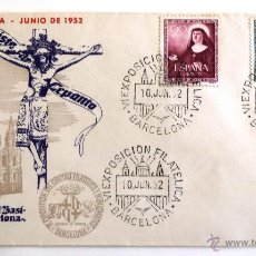 Sellos: SOBRE FILATELICO. XX FERIA OFICIAL E INTERNACIONAL DE MUESTRAS. BARCELONA 1952. GOMIS.. Lote 43705978