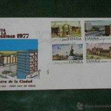 Sellos: ESPAÑA- FIESTA HISPANIDAD - 1977 ED 2439-2442- PRIMER DIA CIRCULACION BARCELONA. Lote 43721326