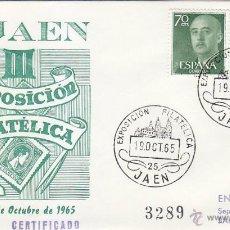Sellos: III EXPOSICION FILATELICA PROVINCIAL, JAEN 1965. MATASELLOS EN SOBRE CIRCULADO DE EG. MUY RARO ASI.. Lote 43925898