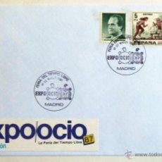 Sellos: SOBRE FILATELICO MATASELLADO. EXPO OCIO 87. FERIA NACIONAL TIEMPO LIBRE. MADRID 1987.. Lote 44203555