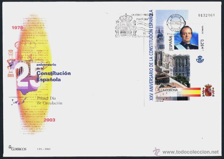 10 SOBRE PRIMER DIA (SPD) - XXV ANIVERSARIO DE LA CONSTITUCION. EDF: 4037/46 (Sellos - Historia Postal - Sello Español - Sobres Primer Día y Matasellos Especiales)