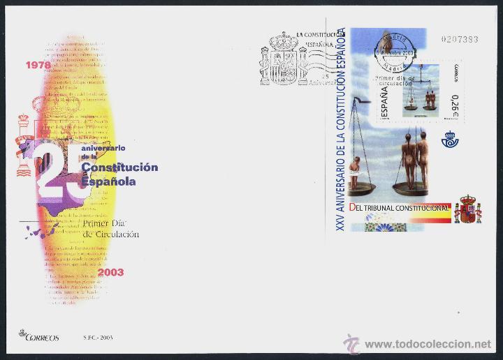 Sellos: 10 SOBRE PRIMER DIA (SPD) - XXV ANIVERSARIO DE LA CONSTITUCION. EDF: 4037/46 - Foto 3 - 44859670