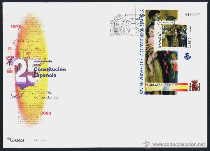 Sellos: 10 SOBRE PRIMER DIA (SPD) - XXV ANIVERSARIO DE LA CONSTITUCION. EDF: 4037/46 - Foto 4 - 44859670