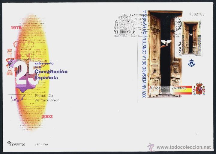 Sellos: 10 SOBRE PRIMER DIA (SPD) - XXV ANIVERSARIO DE LA CONSTITUCION. EDF: 4037/46 - Foto 5 - 44859670