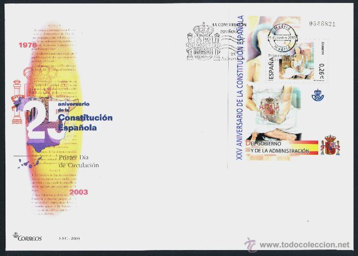 Sellos: 10 SOBRE PRIMER DIA (SPD) - XXV ANIVERSARIO DE LA CONSTITUCION. EDF: 4037/46 - Foto 6 - 44859670