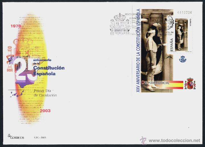 Sellos: 10 SOBRE PRIMER DIA (SPD) - XXV ANIVERSARIO DE LA CONSTITUCION. EDF: 4037/46 - Foto 7 - 44859670