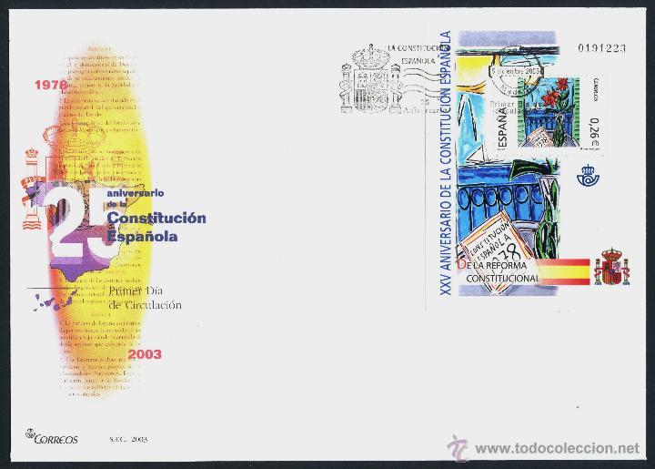 Sellos: 10 SOBRE PRIMER DIA (SPD) - XXV ANIVERSARIO DE LA CONSTITUCION. EDF: 4037/46 - Foto 8 - 44859670
