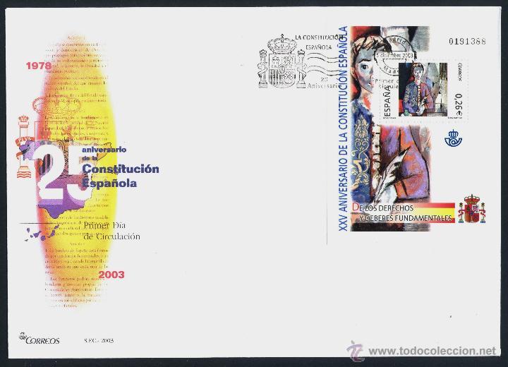 Sellos: 10 SOBRE PRIMER DIA (SPD) - XXV ANIVERSARIO DE LA CONSTITUCION. EDF: 4037/46 - Foto 9 - 44859670