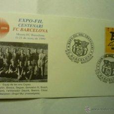 Sellos: SOBRE FUTBOL BARCELONA EXPO-FIL CENTENARIO 1999. Lote 45550852