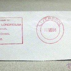 Sellos: FRANQUEO MECANICO, BANCO, BANCO ESPAÑOL EN LONDRES, LIVERPOOL, AGOSTO 1966, INGLATERRA. Lote 46165046