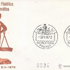 Sellos: XXI EXPOSICION FILATELICA, MALAGA 1972. MATASELLOS EN SOBRE CIRCULADO ALFIL. LLEGADA.. Lote 3236962