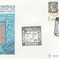 Sellos: EXPOSICION FILATELICA LLOSETA (MALLORCA). 1988. SPD. HOMENAJE A LA FILATELIA DE LLOSETA. * MH.. Lote 46450336