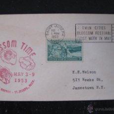 Sellos: SOBRE FESTIVAL BLOSSOM TIME MICHIGAN USA 1953. Lote 46458665