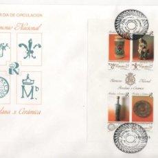 Sellos: PATRIMONIO NACIONAL.- PORCELANA Y CERÁMICAS.-1991. Lote 23999221