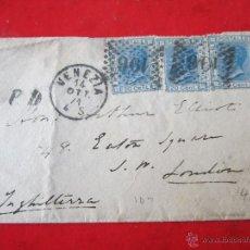 Sellos: CARTA CIRCULADA DE VENECIA A LONDRES. 1914. Lote 47023847