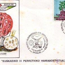 Sellos: EUSKADIKO III PERRETXIKO HAMABOSTADIA BASAURI -COLECCION COMPLETA DOCE SOBRES. Lote 47108783