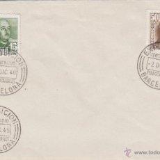 Sellos: SOBRE EXPOSICION CENTENARIO FERROCARRILES BARCELONA 1948 . MATASELLOS ESPECIAL . Lote 47340693
