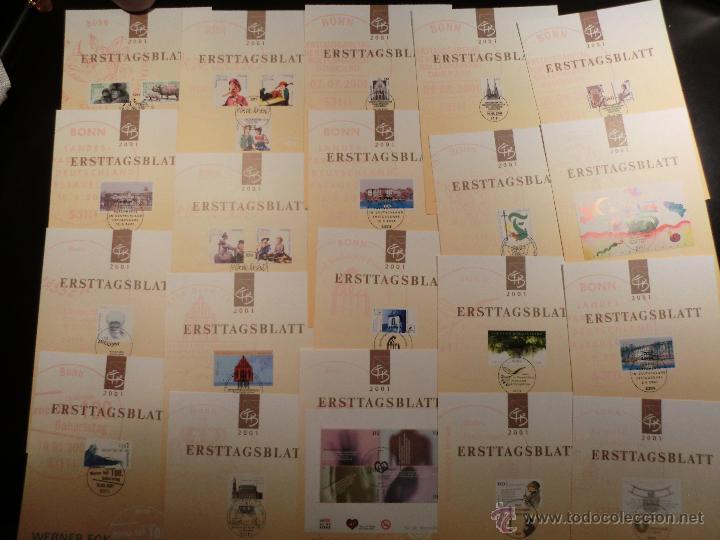 Sellos: E.T.B. ALEMANIA 2001 49 DOCUMENTOS CON TODOS LOS SELLOS Y H.B. MATASELLADOS EXCELENTEMENTE - Foto 2 - 47806958