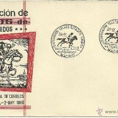 Sellos: MADRID 1960 PONEY EXPRESS TRANSPORTE EXPO SELLOS DE ESTADOS UNIDOS. Lote 47939527