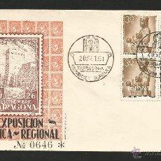 Sellos: TARRAGONA .- 1ª EXPOSICION FILATELICA REGIONAL 1954 .- BLOQUE DE 4 .- NTRA. SRA. MONTSERRAT. Lote 48289874