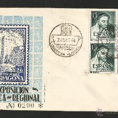 Sellos: TARRAGONA .- 1ª EXPOSICION FILATELICA REGIONAL 1954 .- BLOQUE DE 4 DE TIRSO DE MOLINA. Lote 48290042