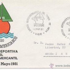 Sellos: MATASELLO ESPECIAL. JUEGOS IBEROAMERICANOS. VIGO 1981.. Lote 48313105