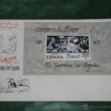 Sellos: ESPAÑA - CENT.PICASSO - GUERNICA EN ESPAÑA PRIMER DIA BARCELONA -SOBRE SFC ED 2630. Lote 48678657
