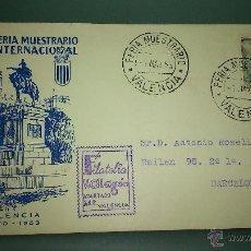 Sellos: XXXI FERIA MUESTRARIO INTERNACIONAL DE VALENCIA. 1/05/1953.. Lote 49144103