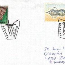 Sellos: SOBRE: 1993 BASAURI ( VIZCAYA ) URDAIBAI. 2 MARASELLOS. Lote 49186344