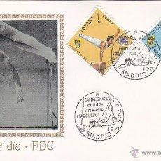 Sellos: GIMNASIA MASCULINA: IX CAMPEONATO DE EUROPA, MADRID 1971. MATASELLOS EN SOBRE DE MUNDO FILATELICO.. Lote 49400432