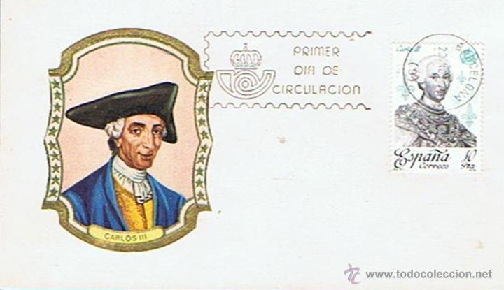 SOBRE PRIMER DÍA DE CIRCULACIÓN CARLOS III 22/11/1970 (Sellos - Historia Postal - Sello Español - Sobres Primer Día y Matasellos Especiales)