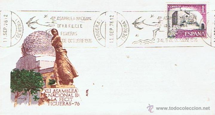 SOBRE DE LA 41ª ASAMBLEA NACIONAL DE LA F.E.C.I.T 3 DE OCTUBRE 1976 (Sellos - Historia Postal - Sello Español - Sobres Primer Día y Matasellos Especiales)