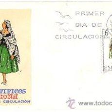 Sellos: SOBRE PRIMER DIA DE CIRCULACION. TRAJES TIPICOS. TARRAGONA. AÑO 1970. Lote 51425046