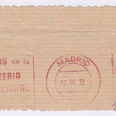 Sellos: FRANQUEO MECÁNICO Nº 7057, LOS PREMIOS DE LA LOTERIA NACIONAL (AÑO1972). Lote 51600584