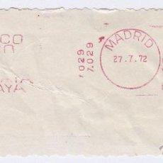 Sellos: FRANQUEO MECÁNICO Nº 7029, BANCO DE VIZCAYA (AÑO1971). Lote 51600714