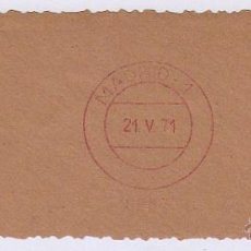 Sellos: FRANQUEO MECÁNICO Nº 6887, PREVESE (AÑO1971). Lote 51600796