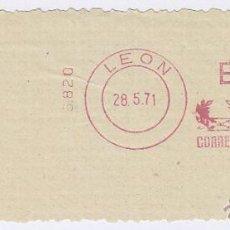 Sellos: FRANQUEO MECÁNICO Nº 6820, BANCO DE SANTANDER DE LEÓN (AÑO1971). Lote 51600877