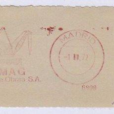 Sellos: FRANQUEO MECÁNICO Nº 6808, DEMAG, EQUIPOS DE OBRAS (AÑO1971). Lote 51600922
