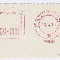 Sellos: FRANQUEO MECÁNICO Nº 6308, MEDIOS DE PRODUCCION INDUSTRIAL (AÑO1971). Lote 51601305