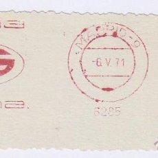 Sellos: FRANQUEO MECÁNICO Nº 6285, SIDEMA (AÑO1971). Lote 51601368