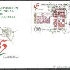 Francobolli: ESPAÑA SOBRE PRIMER DIA CIRCULACION EXPOSICION MUNDIAL DE FILATELIA GRANADA´92 EDIFIL NUM. 3109. Lote 63543318