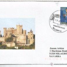 Sellos: CC CON MAT TURISTICO CASTILLO DE OLITE NAVARRA ARQUITECTURA. Lote 134061613