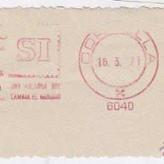 Sellos: FRANQUEO MECÁNICO Nº 6040, PUBLIENVIO, PUBLICIDAD DIRECTA PERSONALIZADA, CORNELLA (AÑO1971). Lote 52159301
