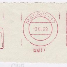 Sellos: FRANQUEO MECÁNICO Nº 6017, TAURO, MALETAS, MADRID (AÑO1969). Lote 52159420