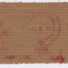 Sellos: FRANQUEO MECÁNICO Nº 5931, BANCO CENTRAL, MADRID (AÑO1969). Lote 52159957