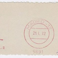 Sellos: FRANQUEO MECÁNICO Nº 5891, MATO (AÑO1972). Lote 52160205