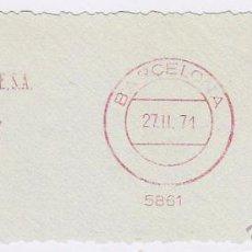 Sellos: FRANQUEO MECÁNICO Nº 5861, TRAFICO MARITIMO TERRESTRES SA (AÑO1970). Lote 52160456